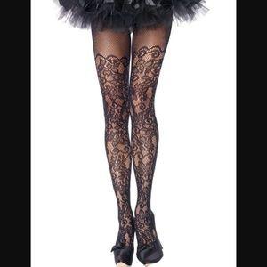 Women/'s Black Spider Web Fishnet Diamond Net Sugar Skull Pantyhose Stockings OS
